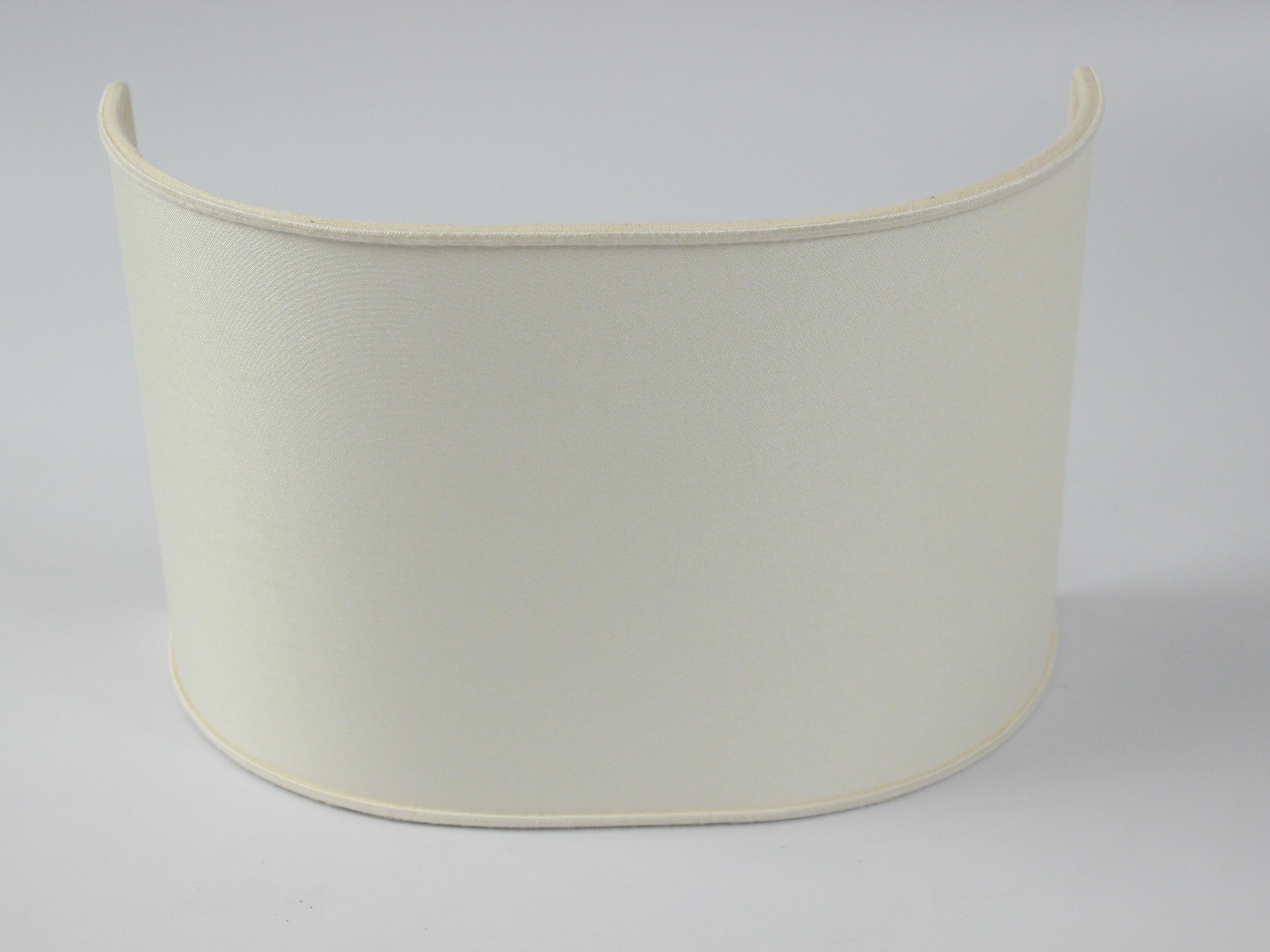 Plafoniere Da Soffitto In Tessuto : Paralume ventola arrotondata in tessuto fatto a mano italia